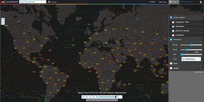 Интерактивная карта. Температура
