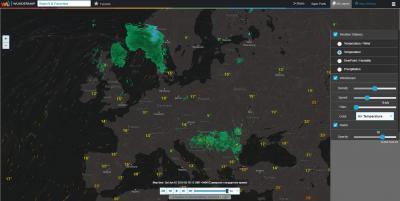 Интерактивная карта. Температура и погодные радары
