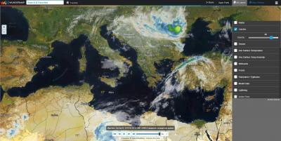 Интерактивная карта. Спутники