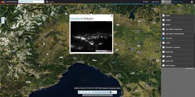 Интерактивная карта. Вебкамеры