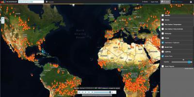 Интерактивная карта. Пожары