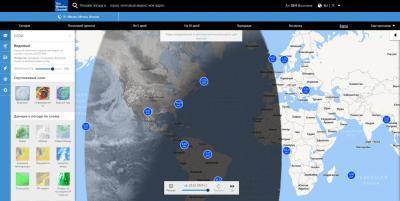 Интерактивные карты. Осадки и облака