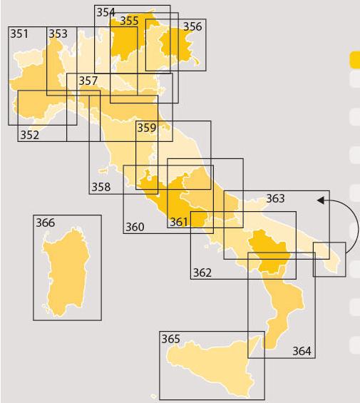 300 серия дорожных карт Италии