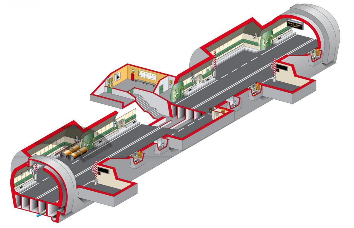 Схема тоннеля Монблан