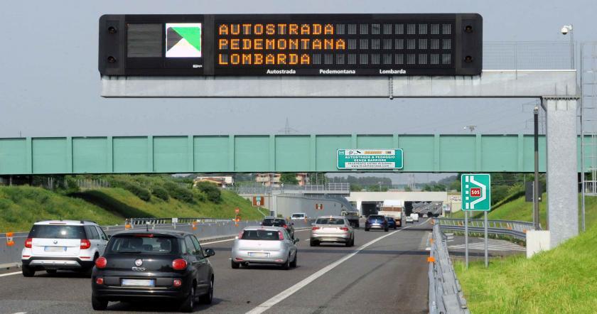 Автострада с системой Free Flow. Источник: www.pedemontana.com