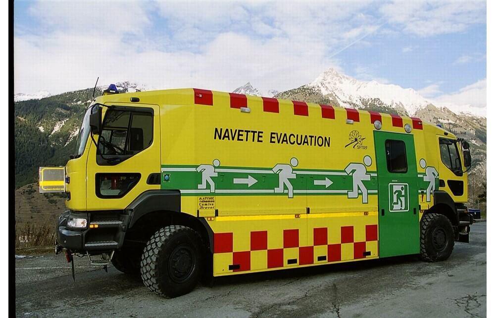 Эвакуационная машина для тоннеля Фрежюс
